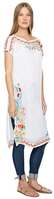 Johnny Was Bold Embroidery Dropped Shoulders Relaxed Silhouette Pool Cover Up Or 19.5