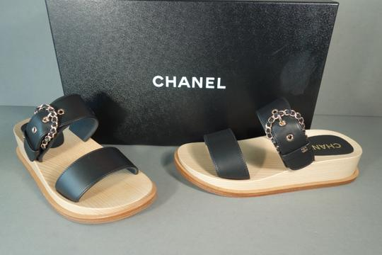 Chanel Black & Beige Mules