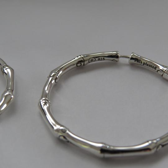 John Hardy Refurbished by JH - Bamboo Collection Medium Sterling Silver Hoops