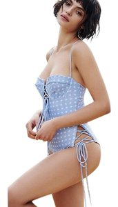For Love & Lemons Heart Throb Lace-Up One-Piece Swimsuit