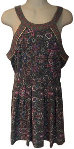 e3b0fc10c4b22 American Eagle Outfitters short dress grey, pink, blue, white Sundress  Floral Racerback Cotton