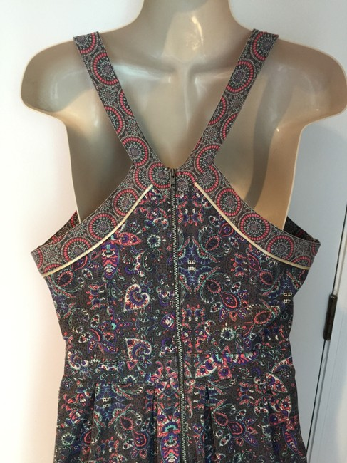 American Eagle Outfitters short dress grey, pink, blue, white Sundress Floral Racerback Cotton on Tradesy