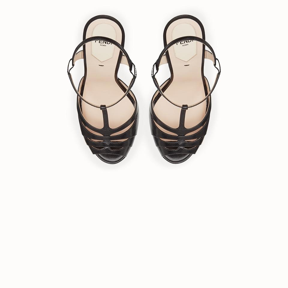 bb566cbb1f3 Fendi Black Duo Platform Sandals Size EU 39 (Approx. US 9) Regular ...