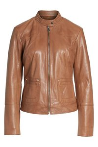 Bernardo Tobacco Brown Leather Jacket