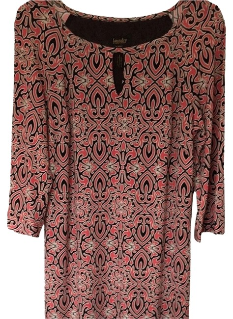 Preload https://item5.tradesy.com/images/laundry-by-shelli-segal-dress-black-white-and-coral-print-2372074-0-0.jpg?width=400&height=650