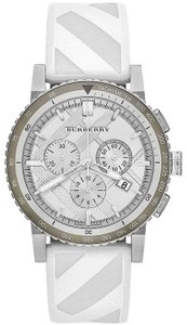 Burberry FLASH-SALE White/Gray The City Chronograph Sport Watch $700