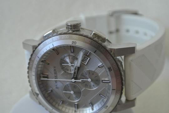 Burberry FLASH-SALE White/Gray The City Chronograph Sport Watch $700 Image 1