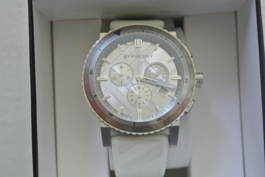 Burberry FLASH-SALE White/Gray The City Chronograph Sport Watch $700 Image 2