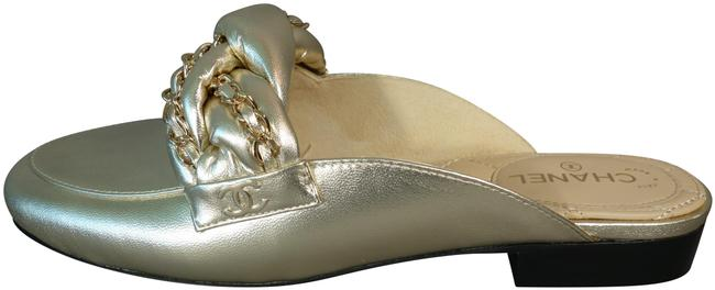 Item - Light Gold Metallized Lambskin Loafers Moccasins Mules/Slides Size EU 36.5 (Approx. US 6.5) Regular (M, B)