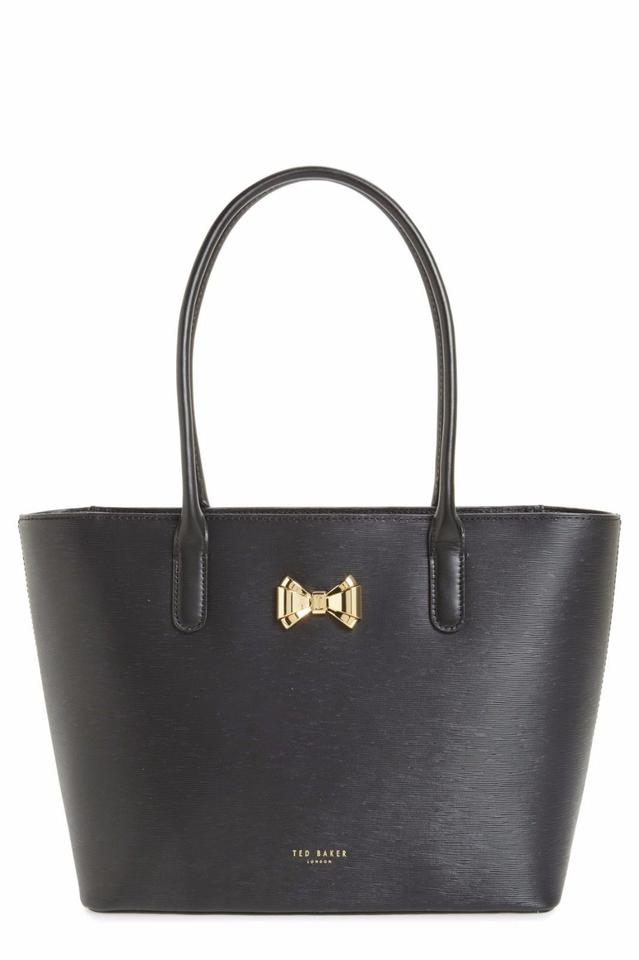 Bow Gold Black Leather Tote Baker Ted x1BwHEE