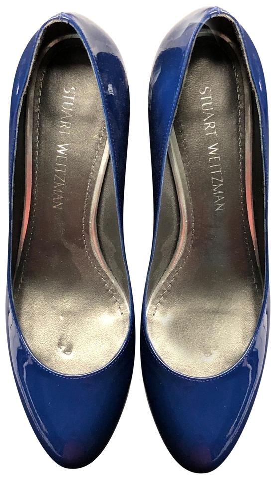 Stuart Weitzman Bright Navy Blue Blue Navy Pumps 6838f3
