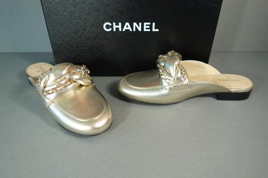 Chanel Light Gold Mules Image 1