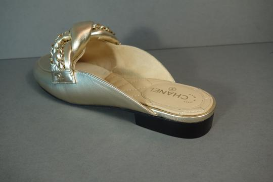 Chanel Light Gold Mules Image 2