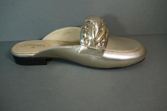 Chanel Light Gold Mules Image 5