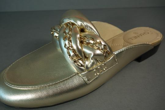 Chanel Light Gold Mules Image 6