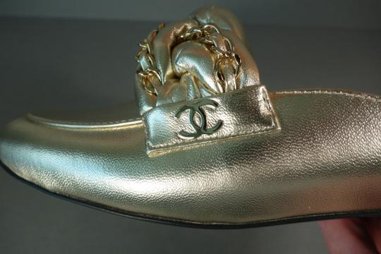Chanel Light Gold Mules Image 8