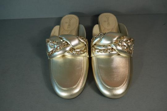 Chanel Light Gold Mules Image 9