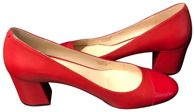 Item - Red On Red Pumps Size US 8 Regular (M, B)