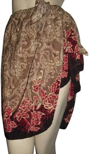 Jennifer Moore Mini Skirt cranberry red,brown