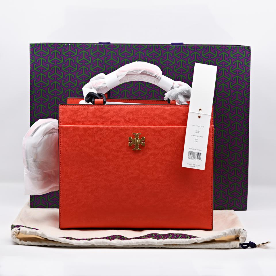 324ef65f0336f Tory Burch Kira Small Tote Popy Red Leather Cross Body Bag - Tradesy
