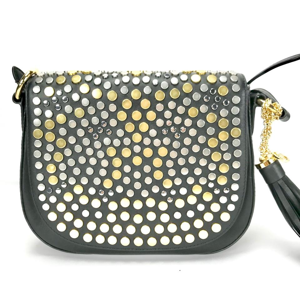 1453fa01cfe3 Michael Kors Brooklyn Jenkins Medium Leather Studded Saddle Purse  190049600412 30h6tj9m8t Cross Body Bag Image 8. 123456789