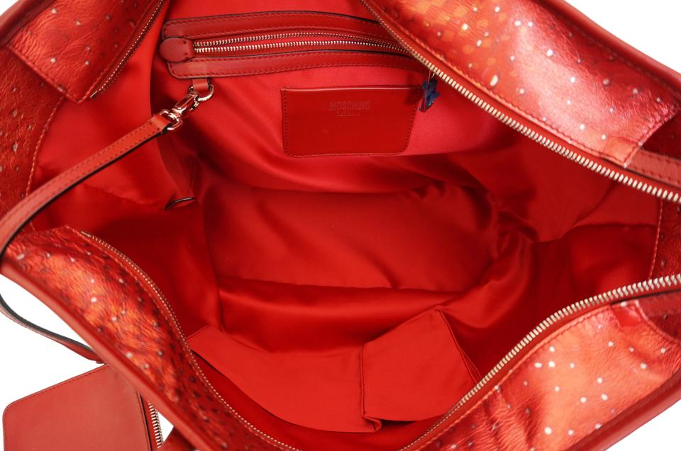 Jeremy Soda Red Drink Tote Laminated Scott Leather Moschino q15EvwT