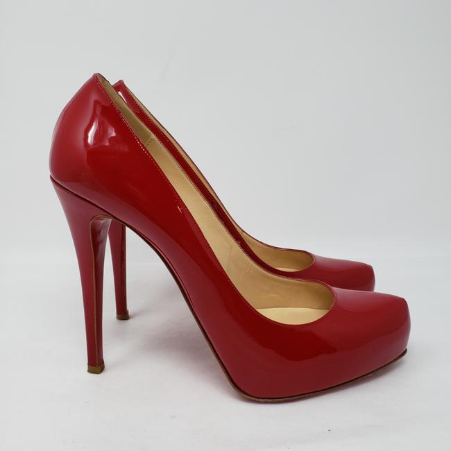 Christian Louboutin Red Nude Patent Rolando Pointed-toe