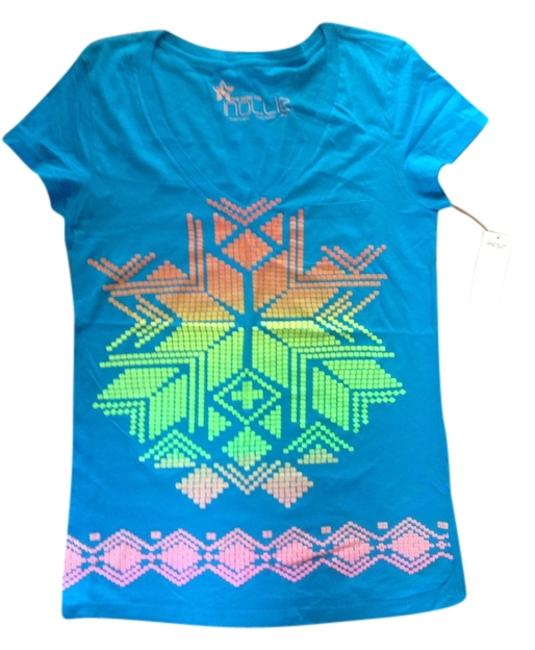 Pacific Sunwear v-neck T Shirt Turquoise