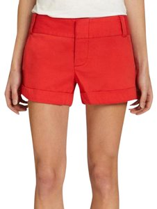 Alice + Olivia Casual Cotton Spring Summer Bermuda Shorts Red