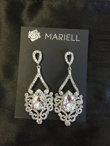 Mariell Dramatic Hollywood Statement Earrings With Scrolls & Bold Pear