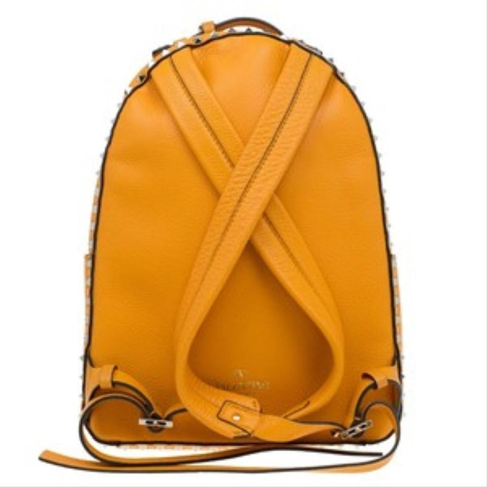 Medium Yellow Rockstud Valentino Leather Backpack YqTwXv