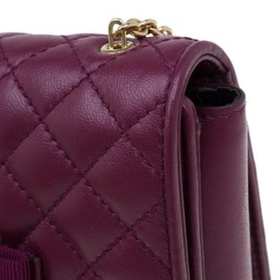 Bag Ferragamo Burgundy Quilted Shoulder Leather Salvatore Ginny 4YZggq