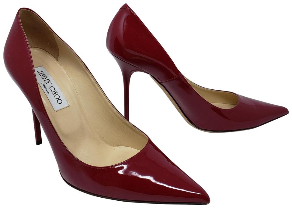 5288162bdd6d Jimmy Choo Pointed Toe Crystal Abel Anouk Patent Leather Red Pumps Image 0  ...