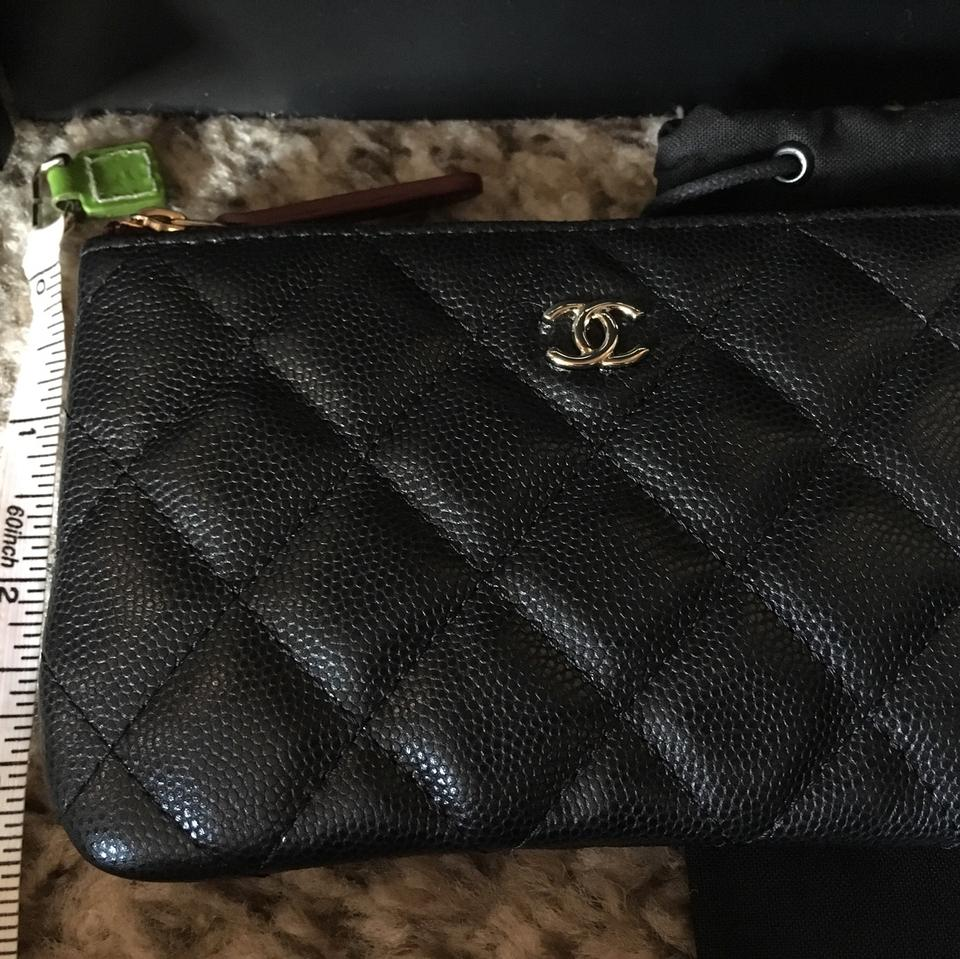 a0cd33df Chanel Black Rare Sold Out 18b Caviar Ghw Mini O Case/Pouch Wallet