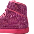 Gucci Bright Pink Women's Satin Fabric Crystal Stud High Top Sneakers Size US 9.5 Regular (M, B) Gucci Bright Pink Women's Satin Fabric Crystal Stud High Top Sneakers Size US 9.5 Regular (M, B) Image 5