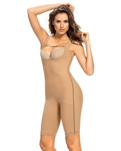 Leonisa NEW POWER BODY SHAPER WITH THIGHS SLIMMER SIZE MEDIUM