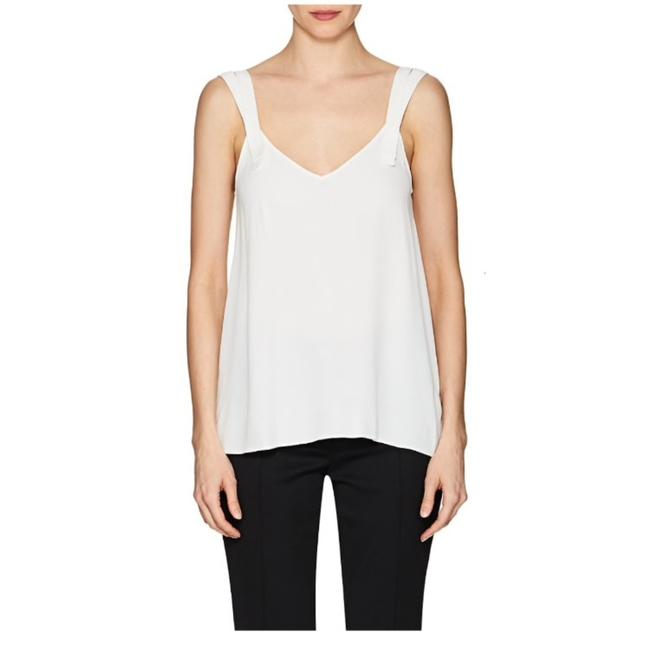 Helmut Lang Optic White H02hc510-double Strap Crepe Tank Top/Cami Size 12 (L) Helmut Lang Optic White H02hc510-double Strap Crepe Tank Top/Cami Size 12 (L) Image 1