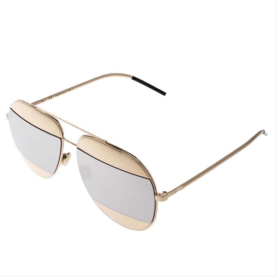 8b87c6afab4d Dior Silver Gold Silver Mirrored 000dc Split 1 Aviator Sunglasses ...