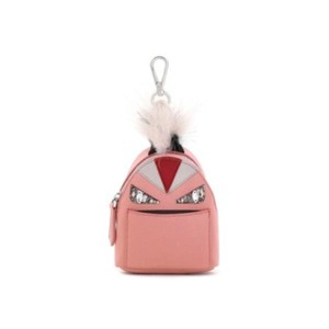 Fendi micro monster mini backpack coin case bag charm keychain