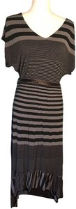 black and grey striped Maxi Dress by FELICITY & COCO Ruffle