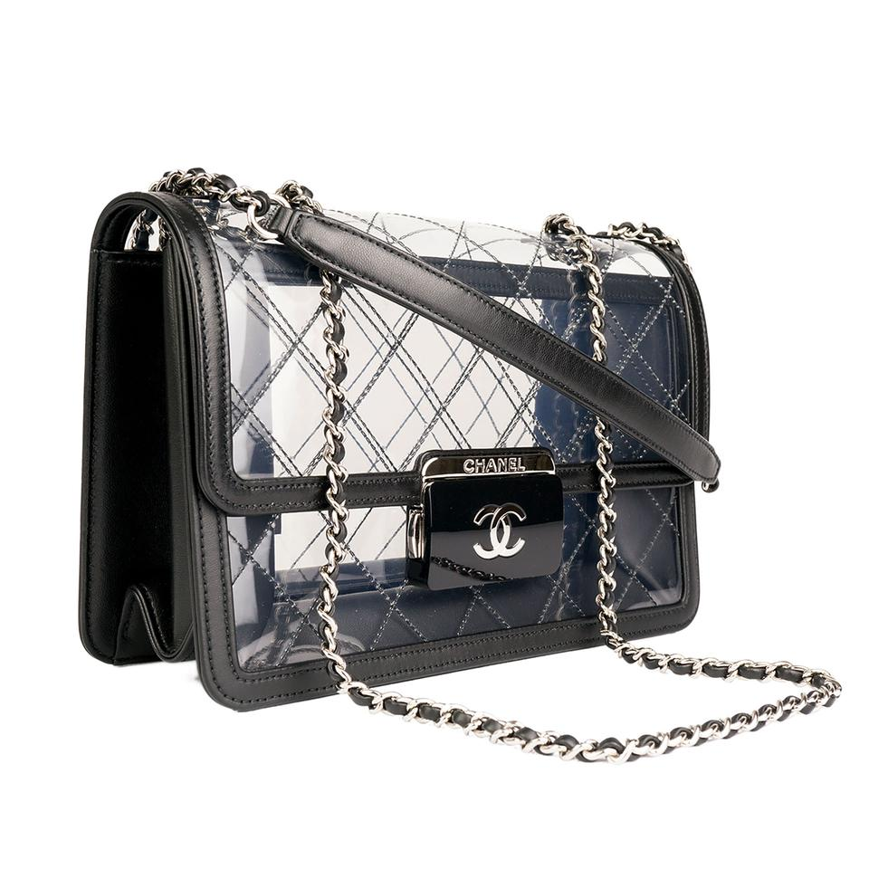 fcf2d2f53f05 Chanel Classic Flap Naked Beauty Lock Clear Transparent Lambskin and Pvc  Cross Body Bag - Tradesy