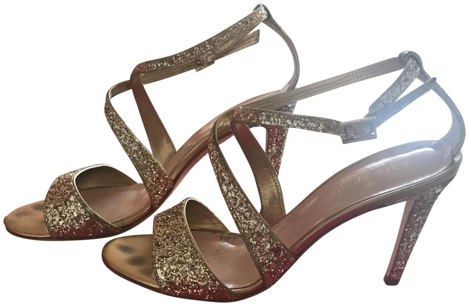 83bd925394f5 Kate Spade Gold Felicity Gold Glitter Heels Formal Shoes Size US 6 ...