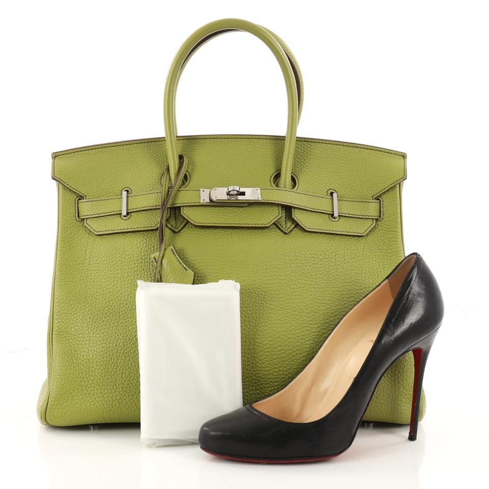 Hermès Birkin Handbag Vert Anis Togo with Palladium Hardware 35 Green  Leather Tote - Tradesy 4b7afbd00f