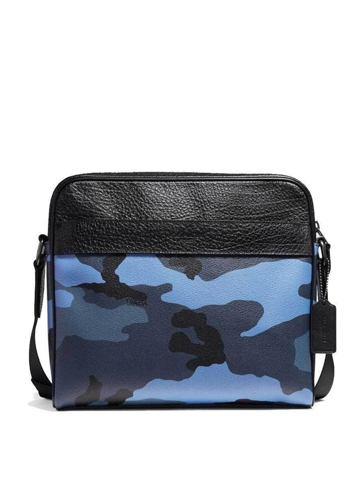 8fd94b1636 Coach Camo Blue Canvas Messenger Bag - Tradesy