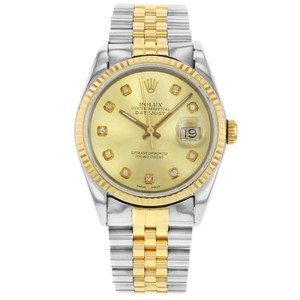 Rolex Datejust 16233 Holes 1991 Custom Diamonds Champagne (20125)