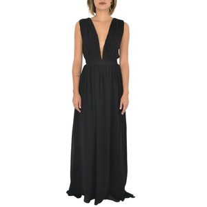 Bishop + Young Maxi Plunging Celebrity Cocktail Dress