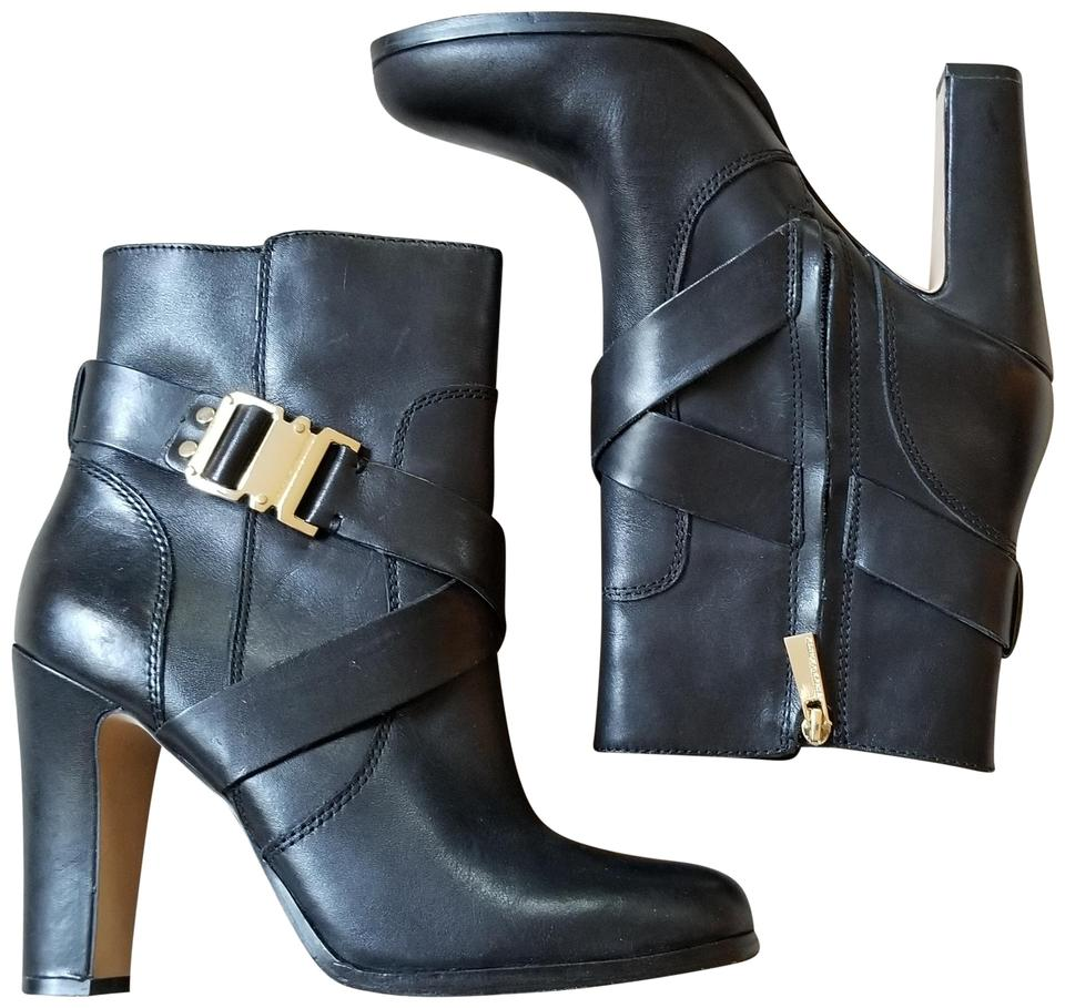 be56fbd4c15b Vince Camuto Black Leather Buckle Boots/Booties Size US 7.5 Regular ...