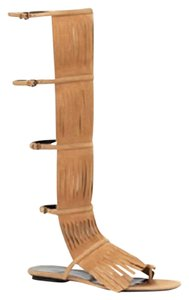 Gucci Becky Suede Knee High Brown Sandals