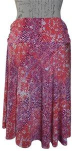 George Snake Skin Stretch Gathered Waist Skirt Mauve, Orange