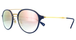 Ray-Ban Ray Ban Unisex Aviator Sunglasses RB4287 872/B9 Blue Frame Pink Lens
